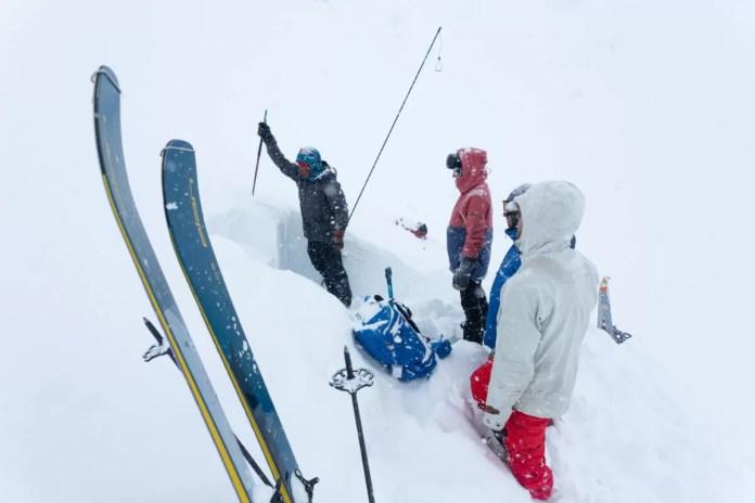 Sneeuwwetenschap snowpit