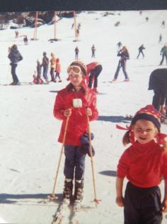 Tracey and I at the snow in 1975