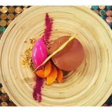 chocolate-mousse-with-beet-goat-cheese-ice-cream