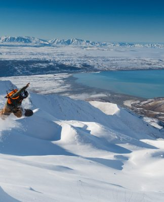 Warren Miller Entertainment New Zealand Aoraki Mount Cook National Park Athletes Seth Wescott Rob Kingwill