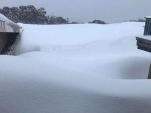 There's a lodge somewhere in there. Pic from Ski Club of Victoria FB.