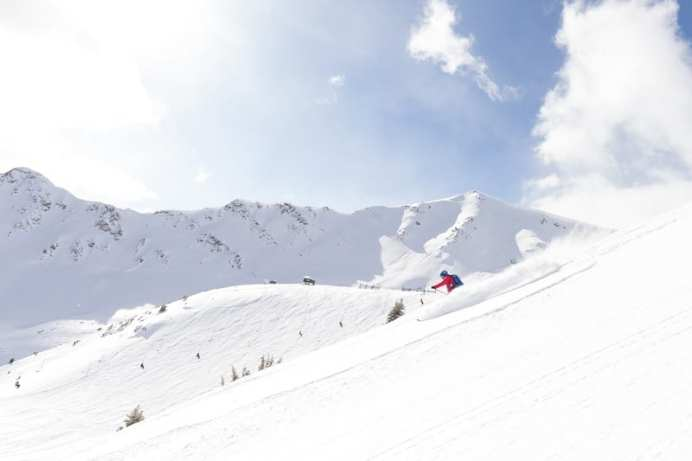 Skiing in Marmot Basin, Jasper.