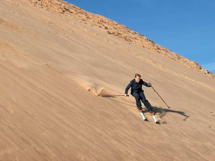 sand skiing