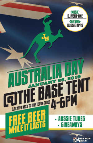 australia day poster Jackson hole ski resort
