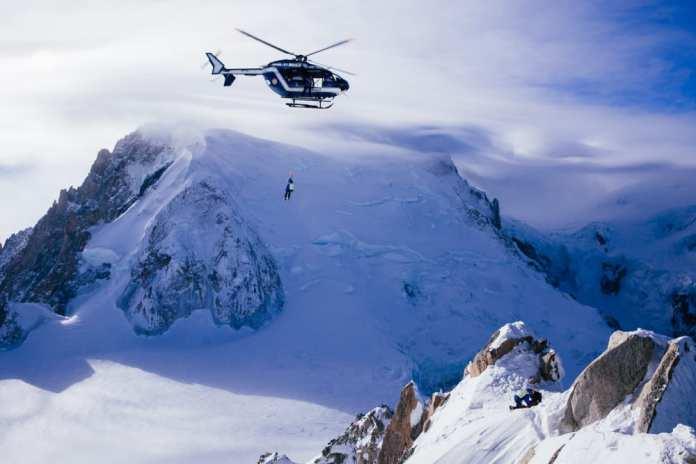 heli rescue france ski