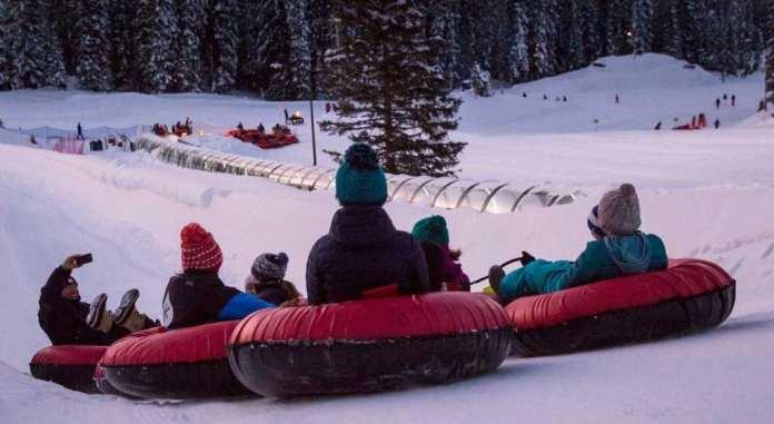 winter activities tubing sh