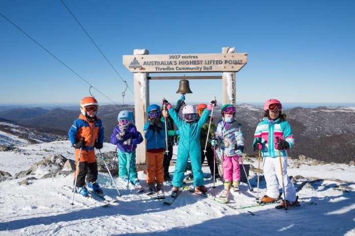 kids skiing bluebird cv a
