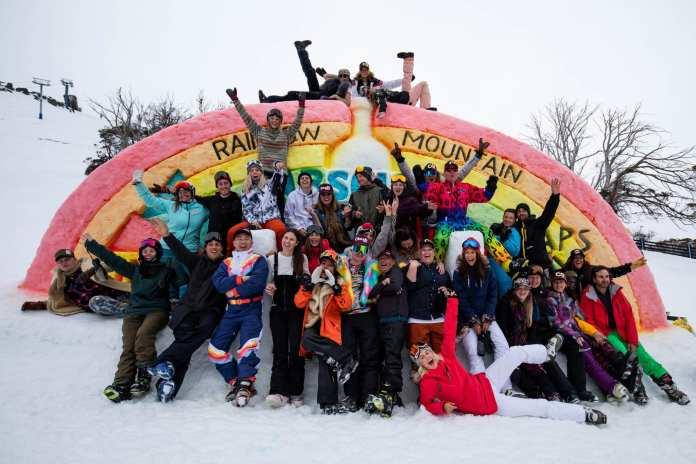 the whole crew rainbow mountain thredbo
