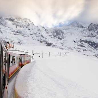 Jungfraujoch-Top of Europe train from Kleine Scheidegg. Pic: Mark Daffey