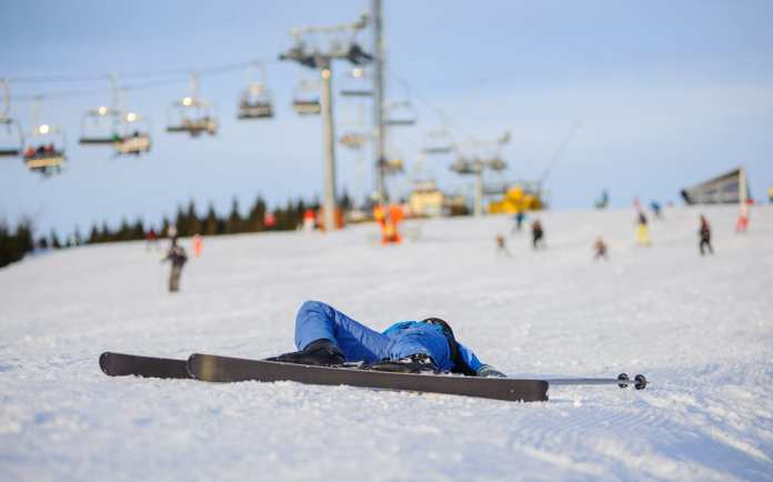 collapsed skier