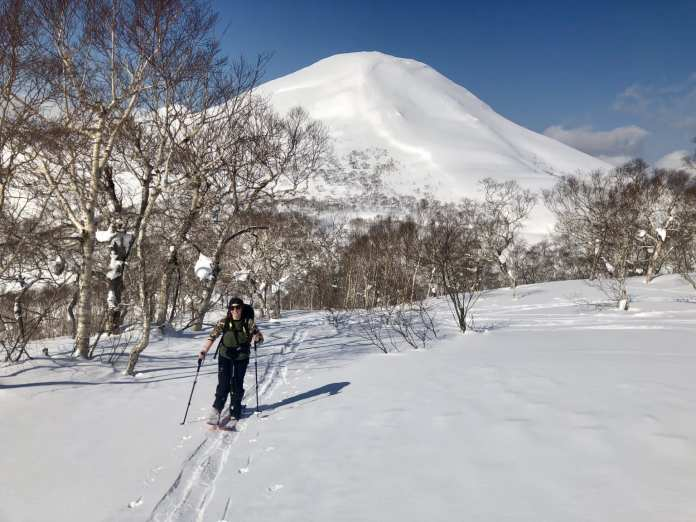 Splitboarding backcountry Japan