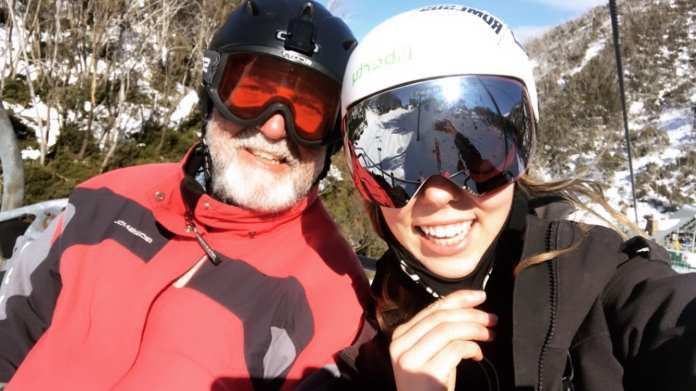me and dad at hotham