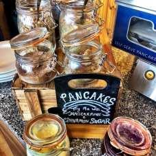 The pancake station