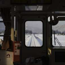 Train from Kakunodate to Aniai. Akita Prefecture, Ani article. Picture: Dylan Robinson