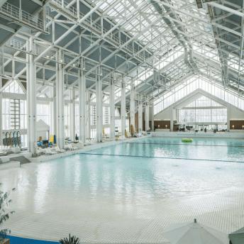 The wave pool in Tomamu