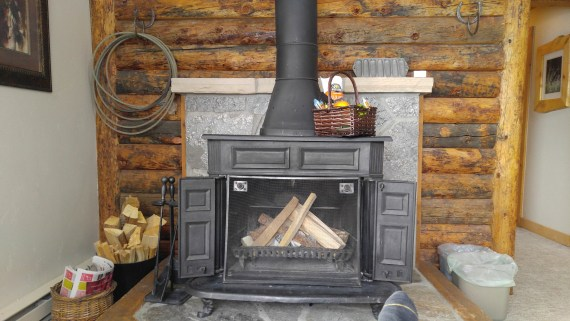 fireplace at Vista Verde Guest Ranch, Steamboat Springs