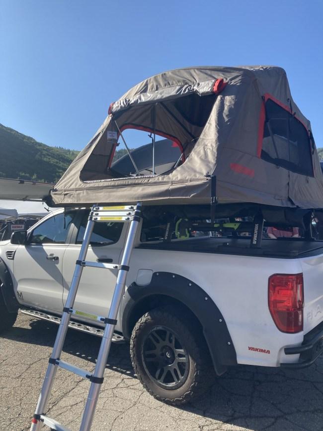 Yakima Skyrise HD tent set up on truck