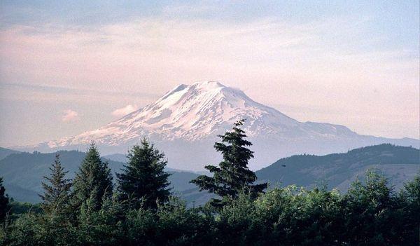 view of Mt Adams, Washington