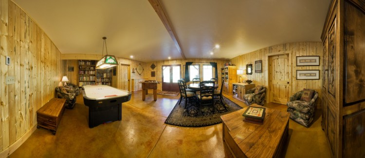downstairs game room at Wild Skies