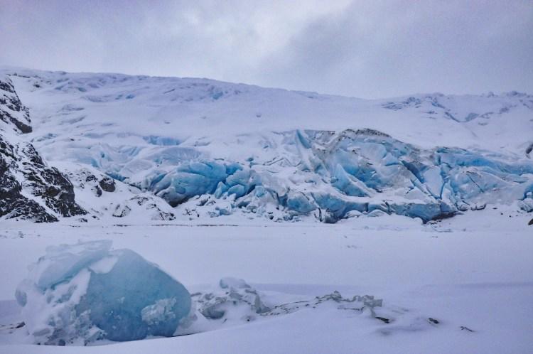 dying glaciers: glacier near Portage Alaska