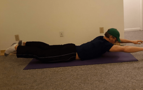 back exercises: superman demonstration