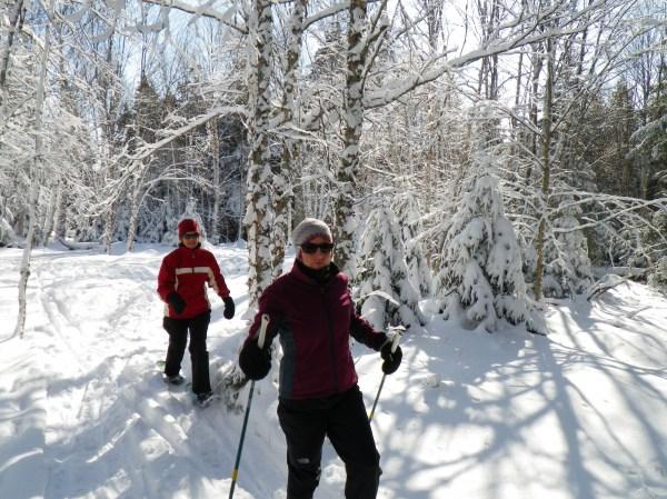 snowshoeing St. John River