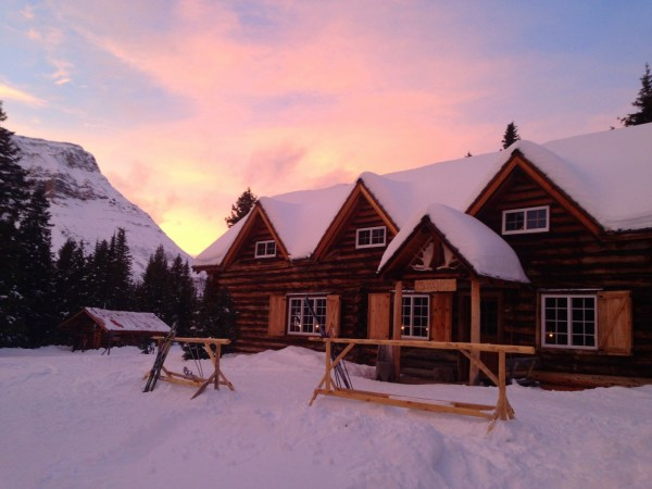 Sunset at Skoki Lodge