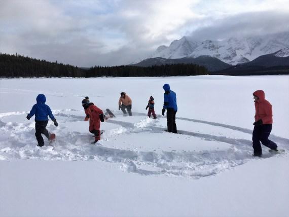 how to start snowshoeing- having fun!
