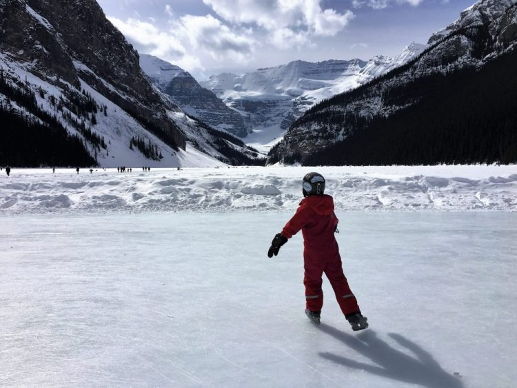Ice skating at Lake Louise, AB