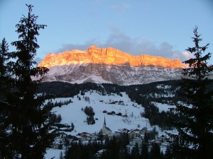 Sunset on Santa Croce rock