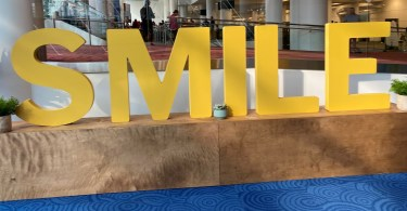 smile sign at outdoor retailer
