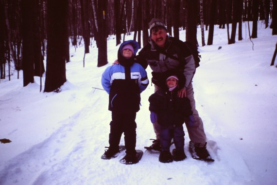 snowshoeing with grandchildren