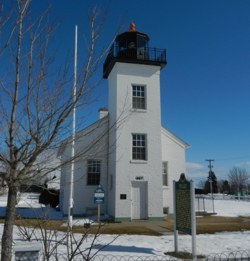 lighthouse in Ludington Park in Escanaba