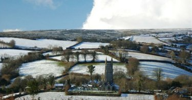 Snow on Dartmoor, England