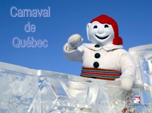 The mascot of Quebec City's Winter Carnival