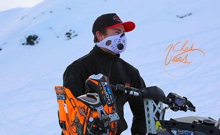 Bend Oregon's Chad Voos wears RZMasks