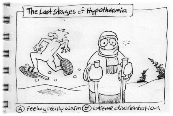 chad carpenter snowshoe hypothermia cartoon