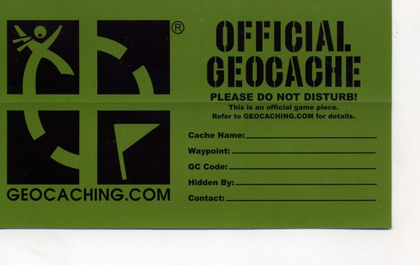 geocaching form