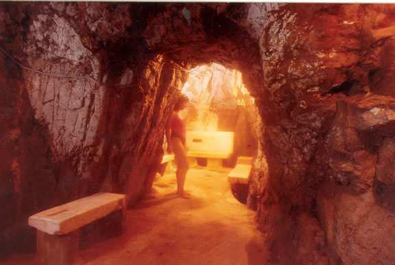 woman standing in the vapor caves near Glenwood