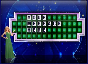 Your own personal screen saver from Wheel of Fortune with a Vanna, too.