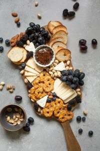 fruits, cheeses- snacks for snowshoeing