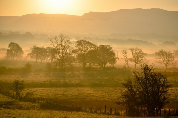 sunrise over Campsie Fells, Scotland