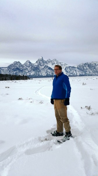 Out in the Tetons in the Argus jacket by Arc'Tyrex.  (Photo by Brad Christensen.)