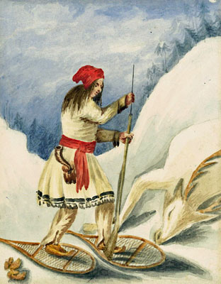 The hunter-gatherer roots of snowshoeing- snowshoe history