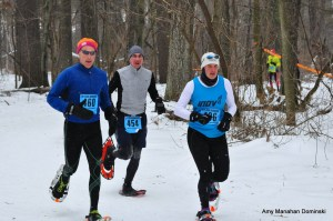 1-Snowshoe 2015 Eau Claire Amy Rusiecki wins silver w Erik Wight (l) trail friend and