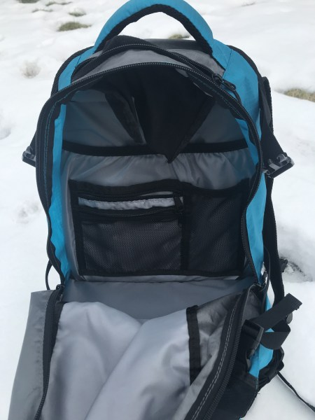 pockets in the main compartment, Paxis backpack
