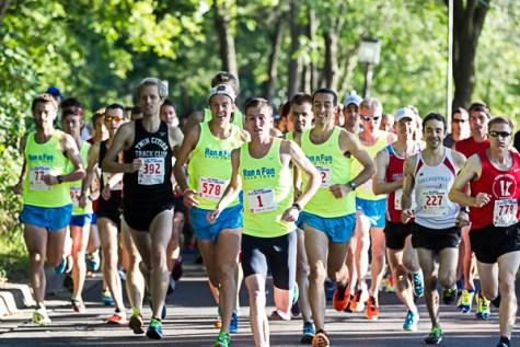 As close as anyone got to Dan Greeno, overall winner of the 2014 City of Lakes Half-Marathon