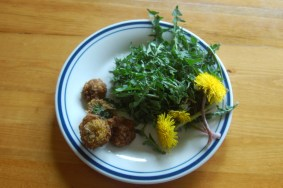 Fritters and greens