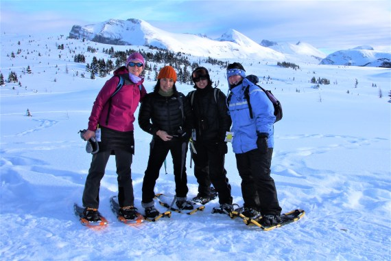 snowshoeing with friends!