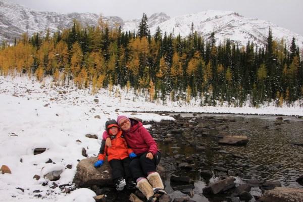 Early season snow at Pocaterra Tarn
